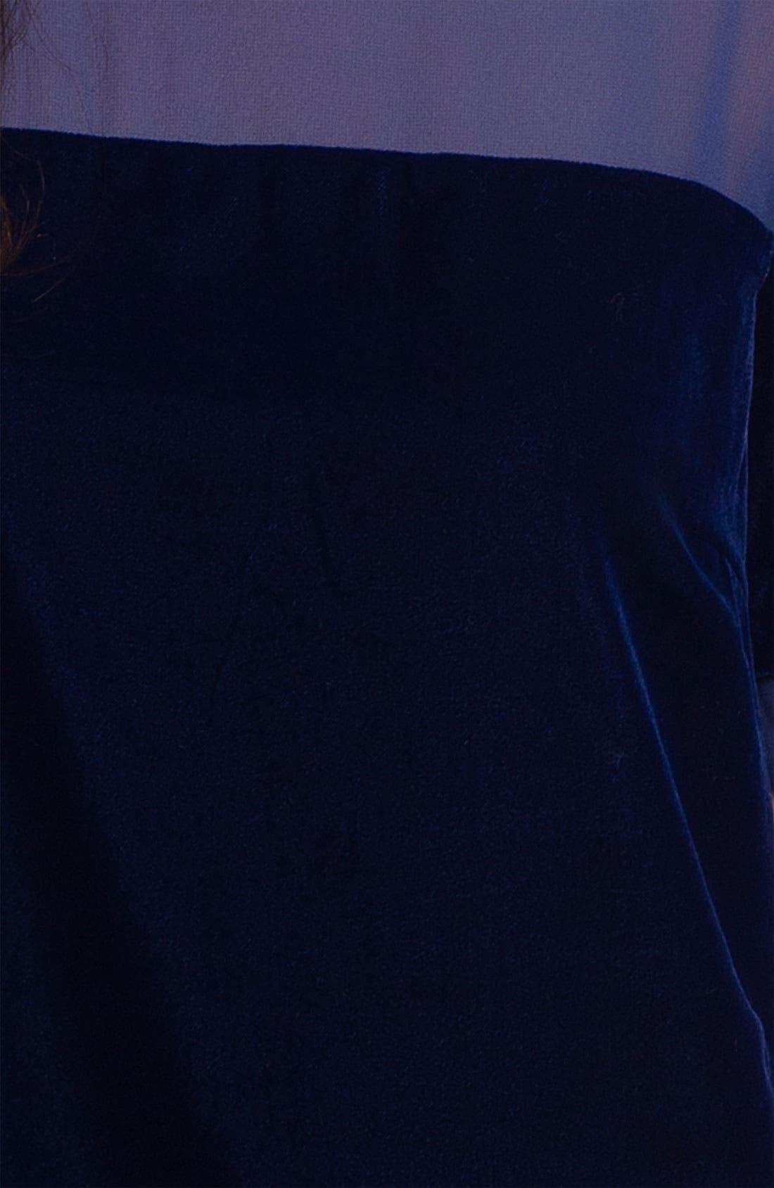 Crewneck Tunic Dress,                             Alternate thumbnail 3, color,                             Night Sky