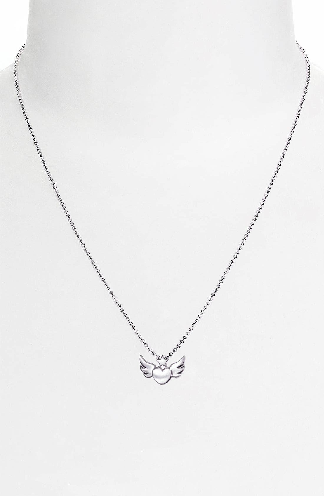Alternate Image 2  - Alex Woo 'Little Rock Star' Heart & Wings Pendant Necklace