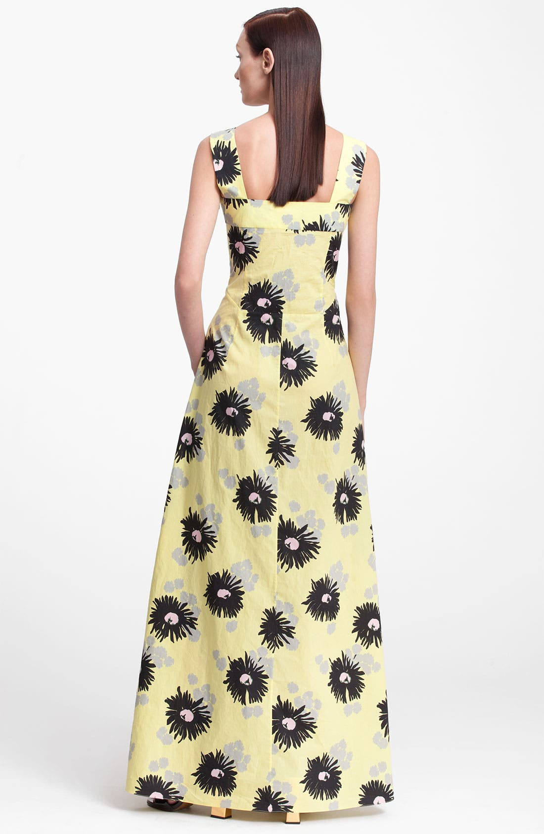 Alternate Image 2  - Marni Long Floral Print Dress