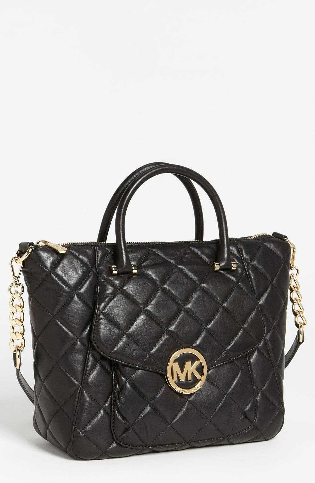 Main Image - MICHAEL Michael Kors 'Fulton - Large' Quilted Satchel