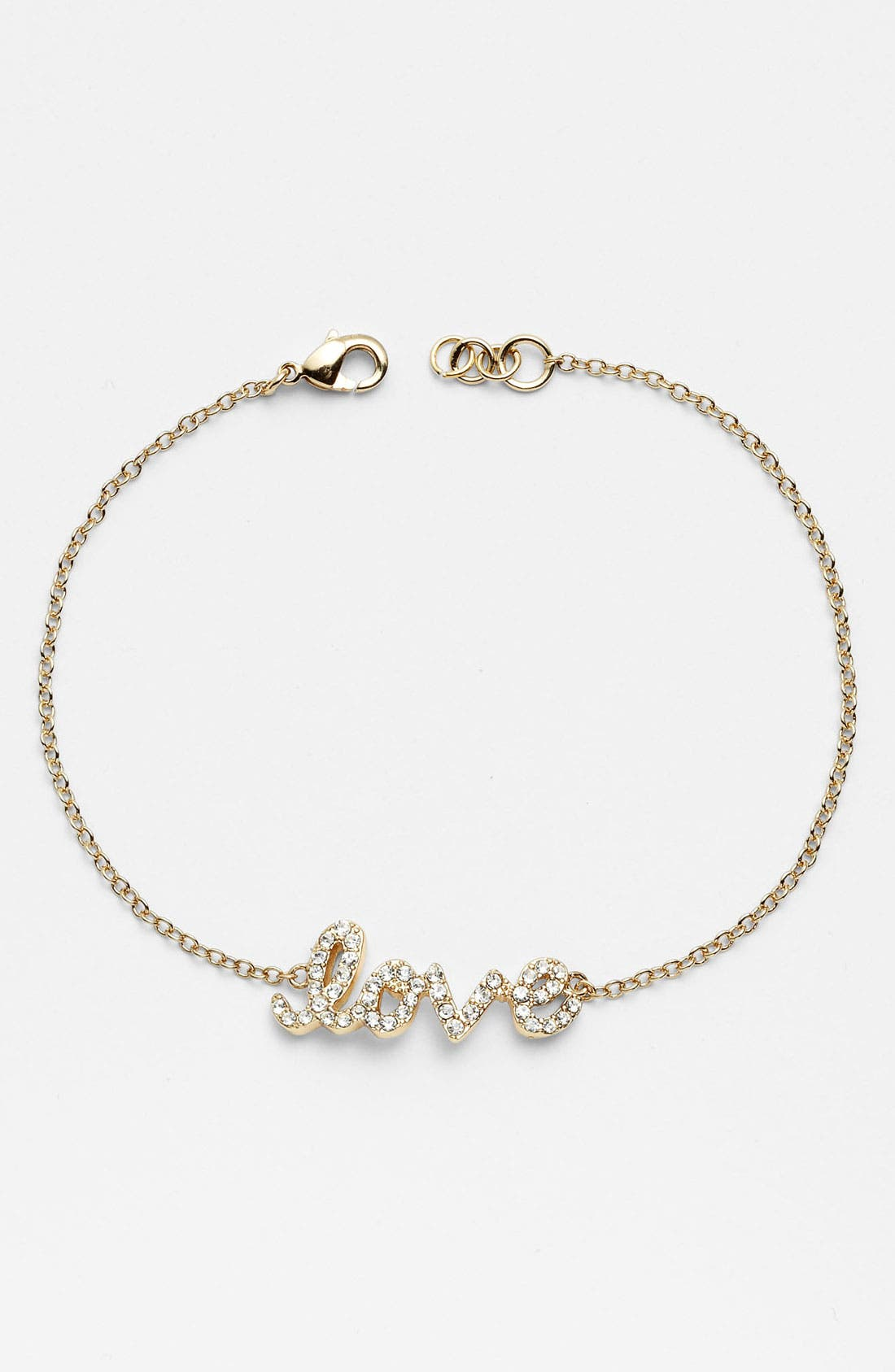 Alternate Image 1 Selected - Ariella Collection 'Messages - Love' Script Station Bracelet