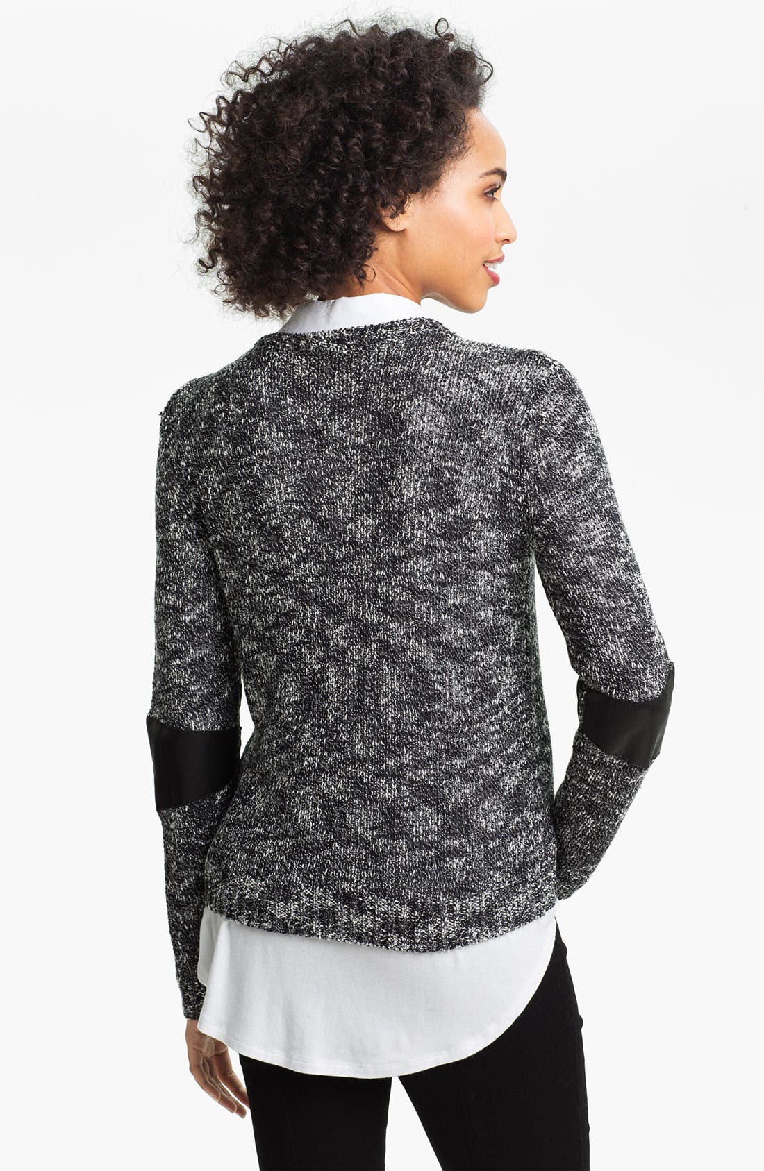 Alternate Image 2  - Two by Vince Camuto Mix Media Sweater
