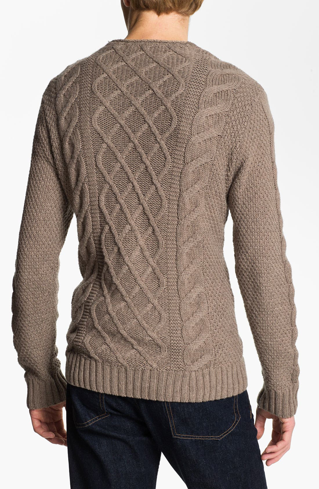 Alternate Image 2  - Original Penguin Cable Knit Sweater