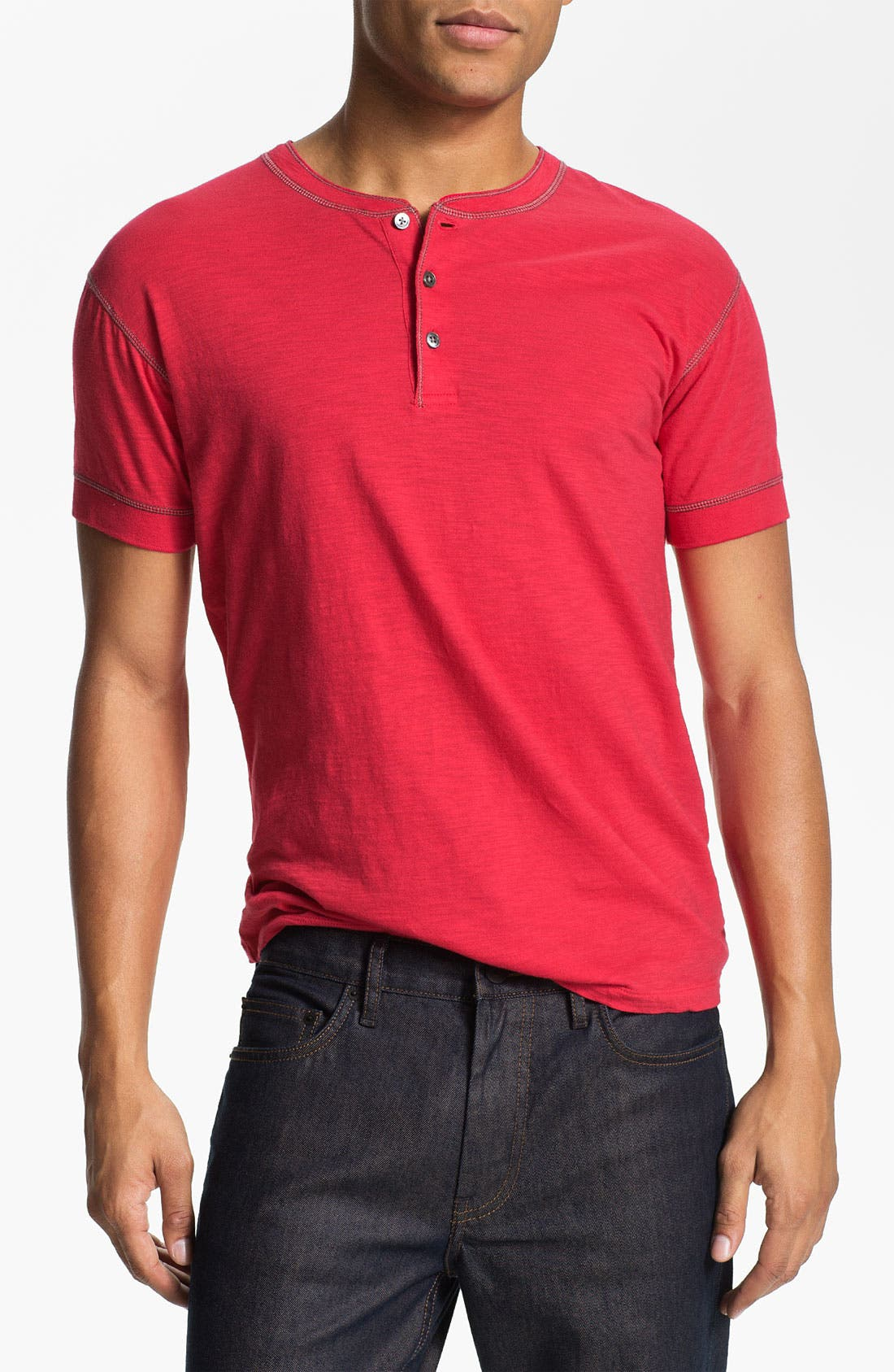 Alternate Image 1 Selected - MARC BY MARC JACOBS 'Denis' Short Sleeve Henley T-Shirt