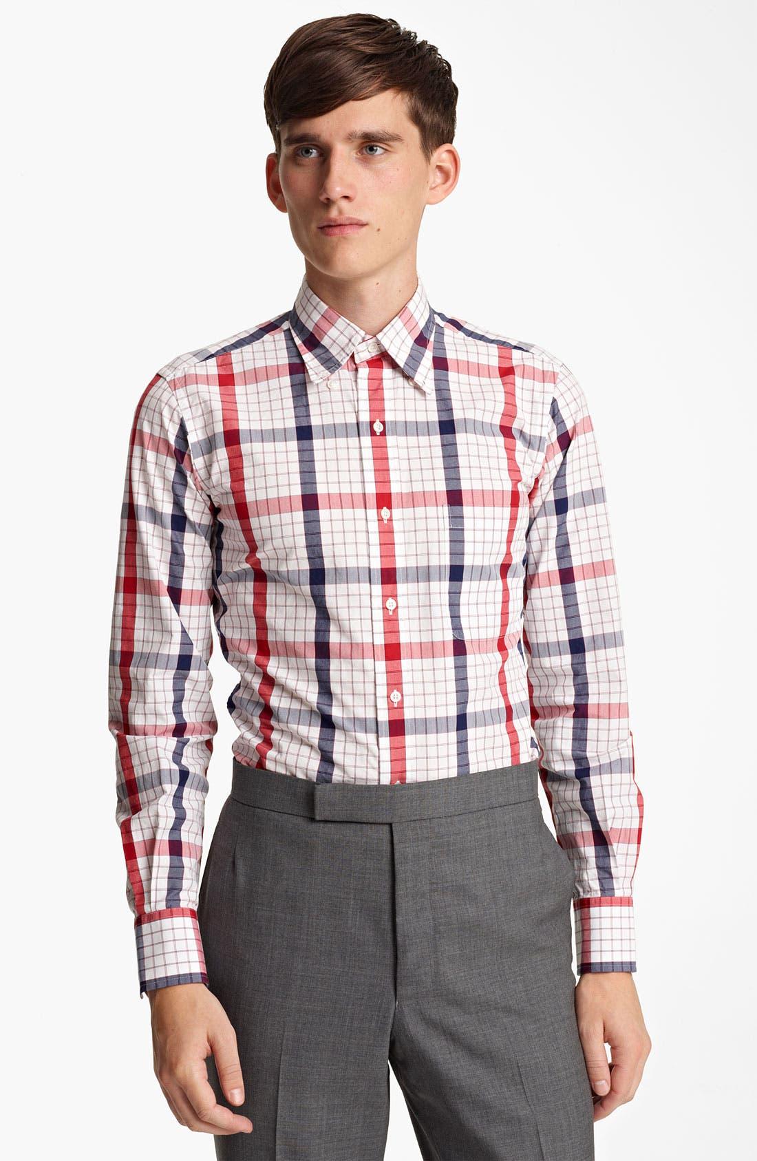 Alternate Image 1 Selected - Thom Browne Poplin Check Shirt