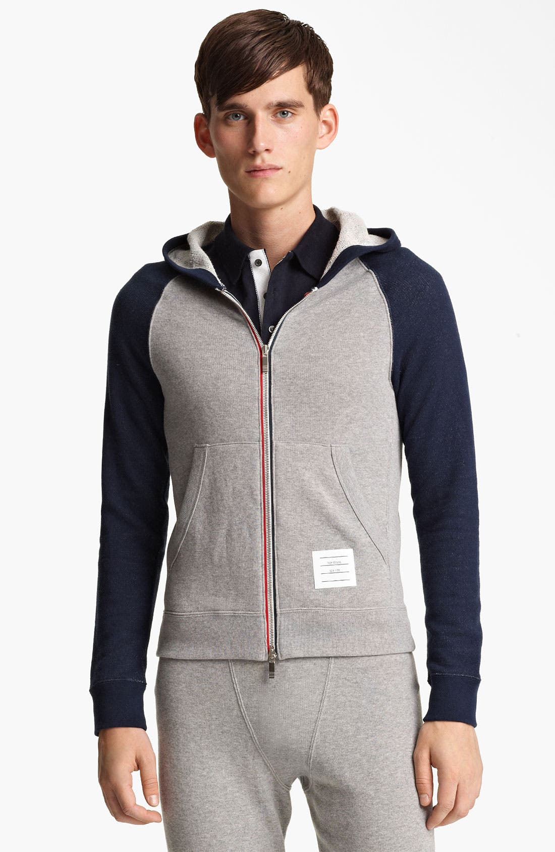 Alternate Image 1 Selected - Thom Browne Raglan Sleeve Hoodie
