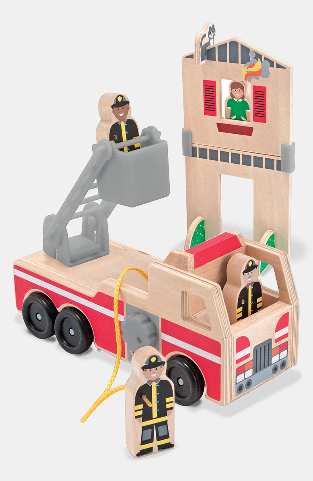 Alternate Image 1 Selected - Melissa & Doug 'Whittle World - Fire Rescue' Wooden Toy