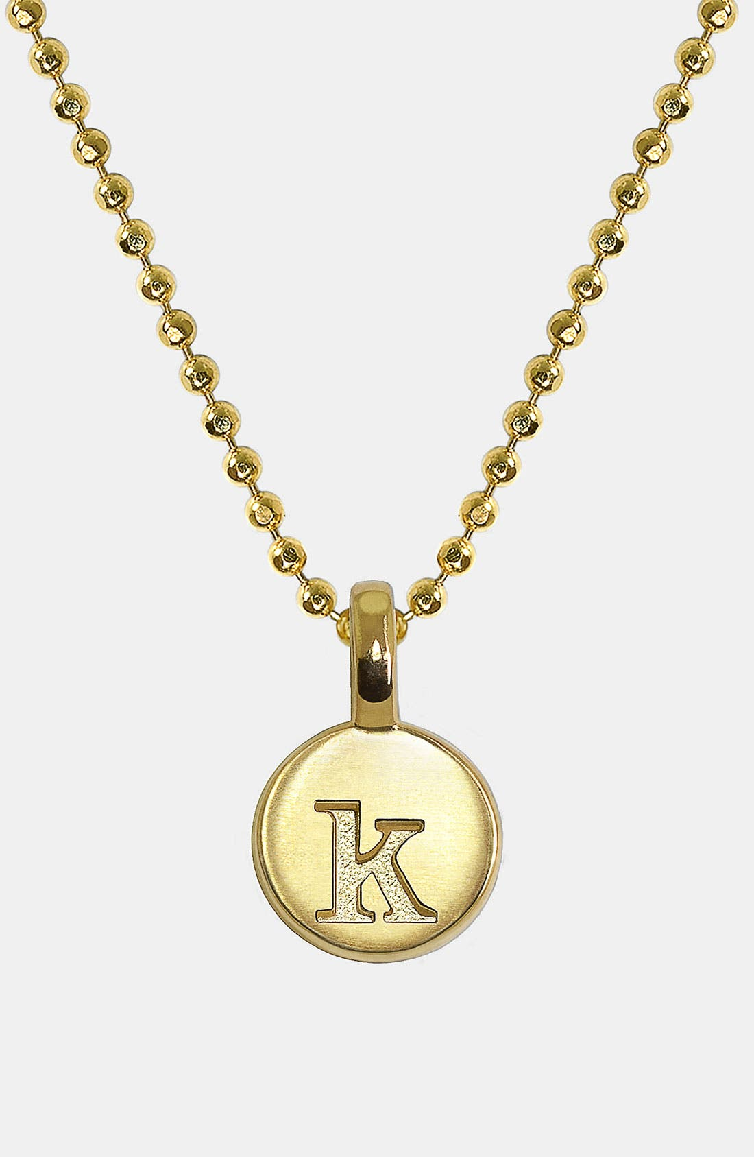 Alternate Image 1 Selected - Alex Woo 'Mini Initial' 14k Gold Pendant Necklace