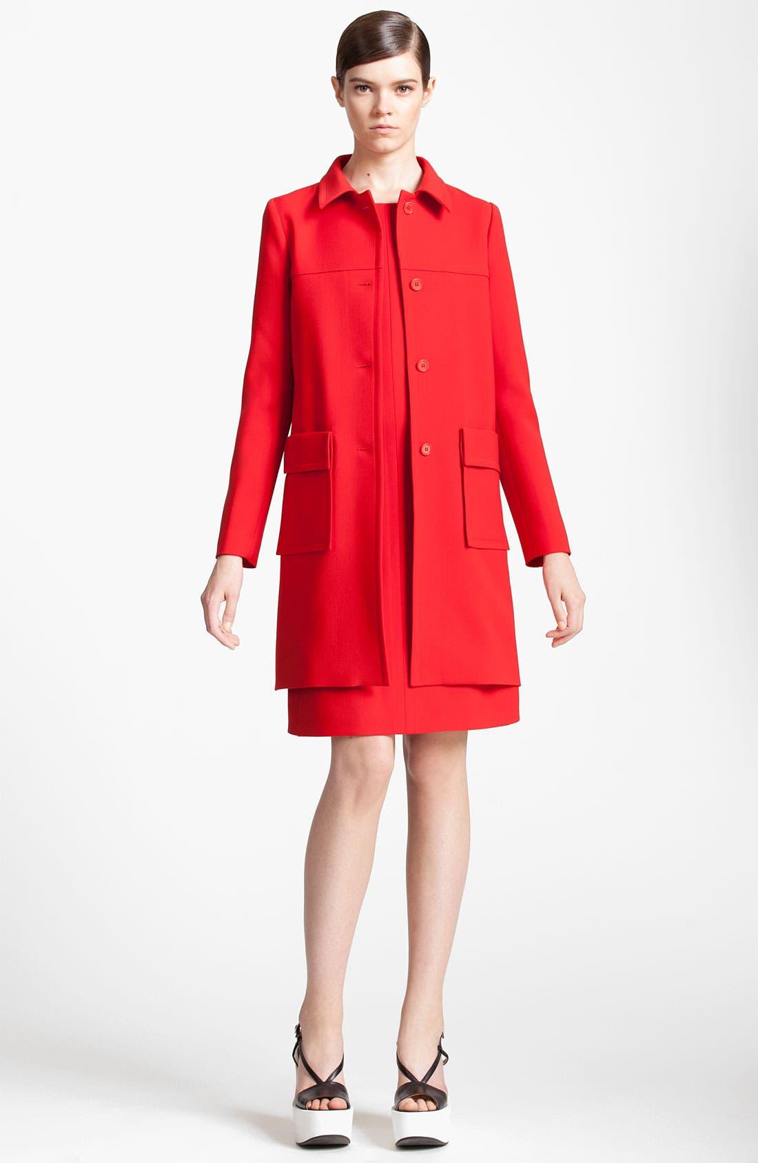 Alternate Image 1 Selected - Jil Sander Navy Wool Crepe Coat