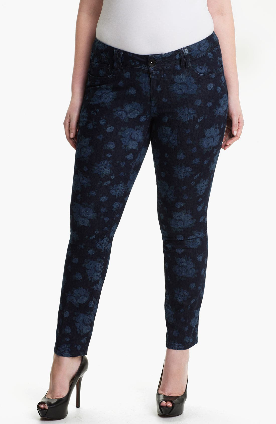Alternate Image 1 Selected - Wit & Wisdom Floral Print Leggings (Plus) (Nordstrom Exclusive)