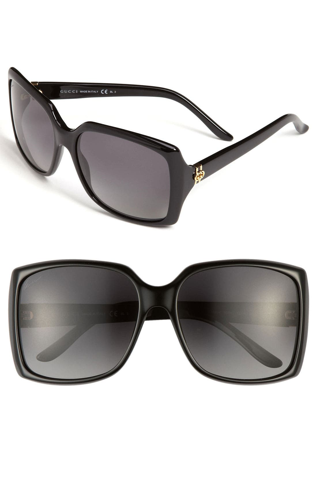 Alternate Image 1 Selected - Gucci 58mm Polarized Sunglasses