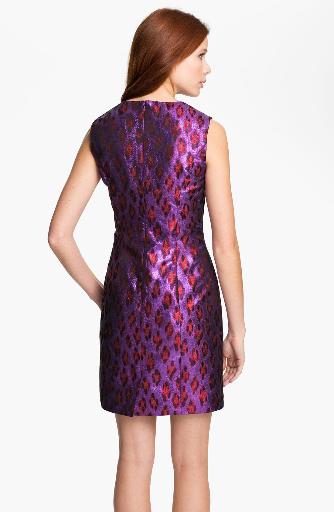 Alternate Image 2  - French Connection 'Disco Leopard' Metallic Sheath Dress