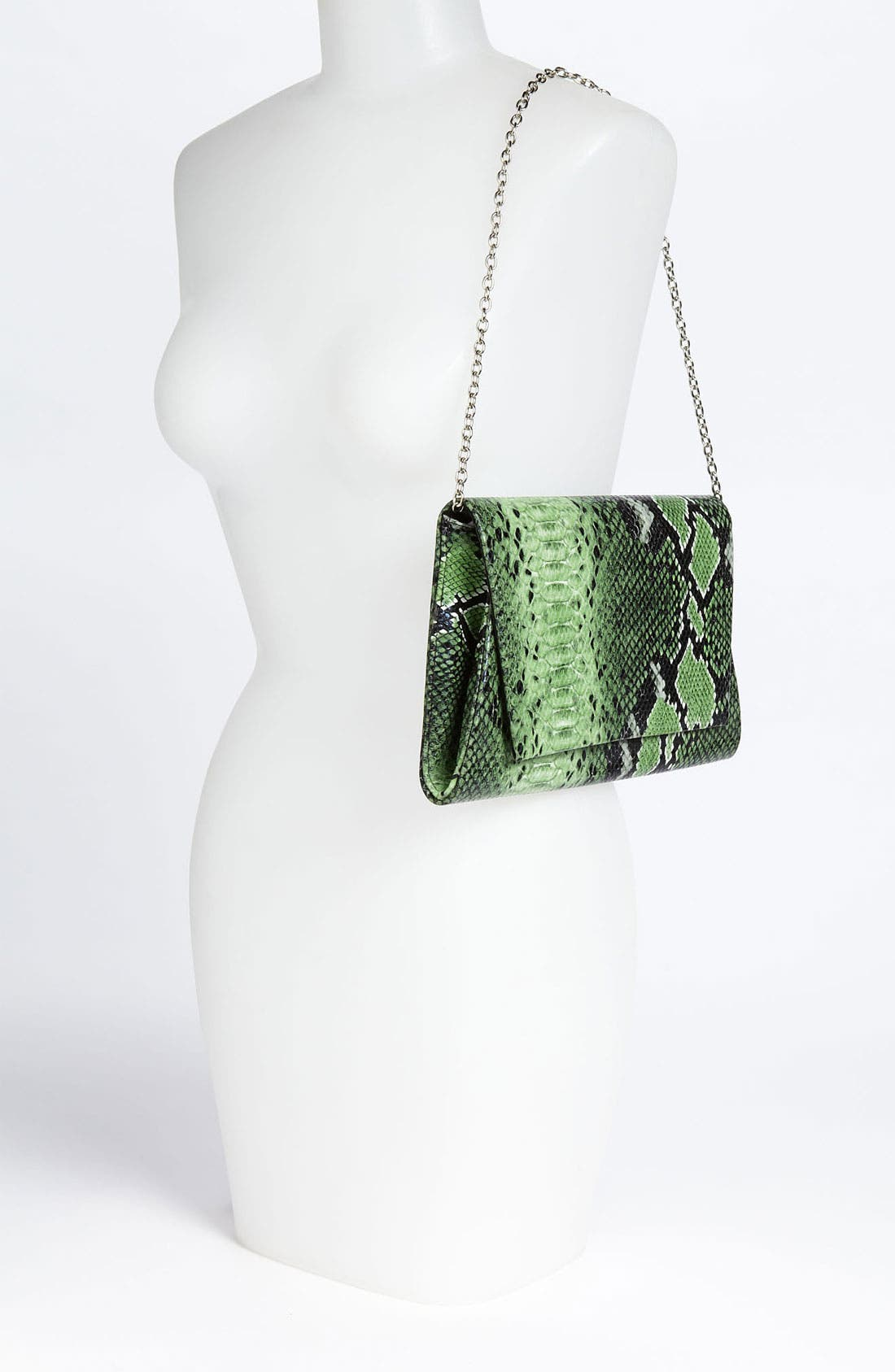 Alternate Image 2  - Natasha Couture Foldover Snake Embossed Clutch