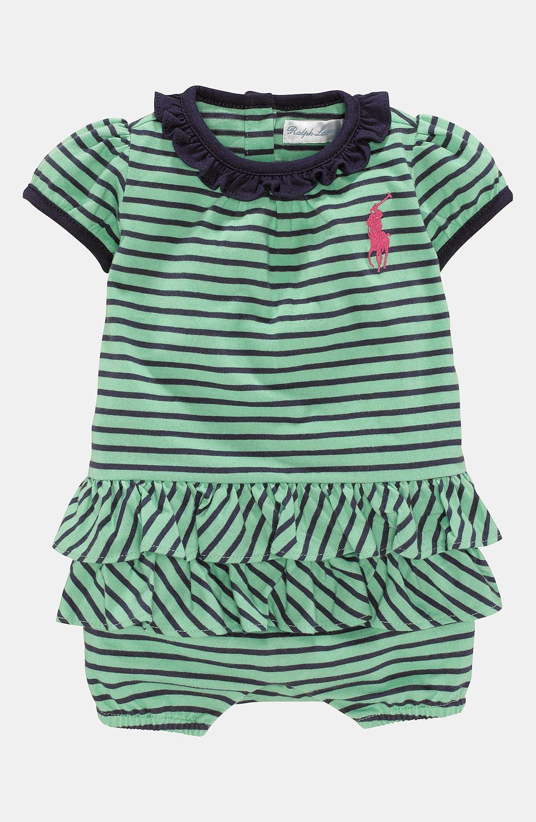 Alternate Image 1 Selected - Ralph Lauren Stripe Bodysuit (Infant)