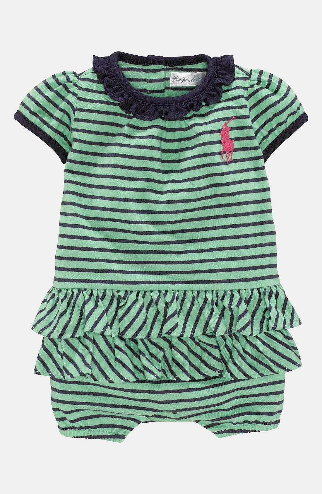 Main Image - Ralph Lauren Stripe Bodysuit (Infant)