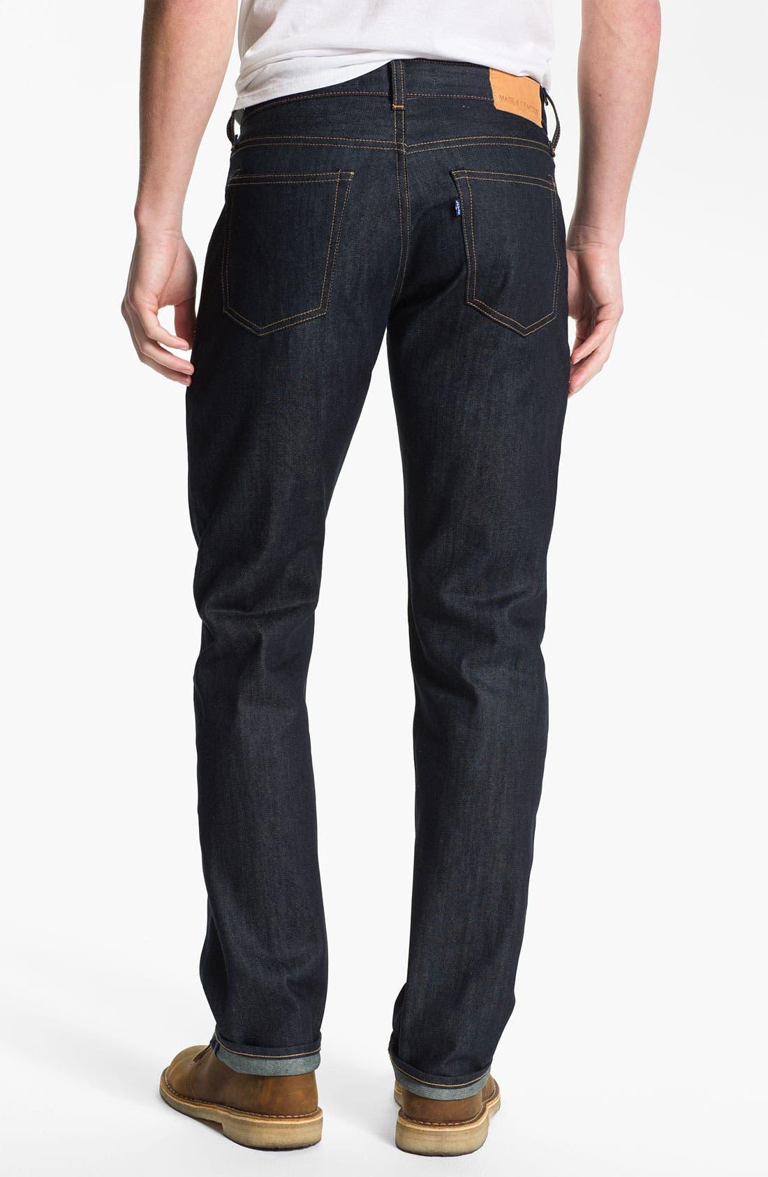 Alternate Image 2  - Levi's® Made & Crafted™ 'Ruler' Straight Leg Jeans (Indigo Rigid)