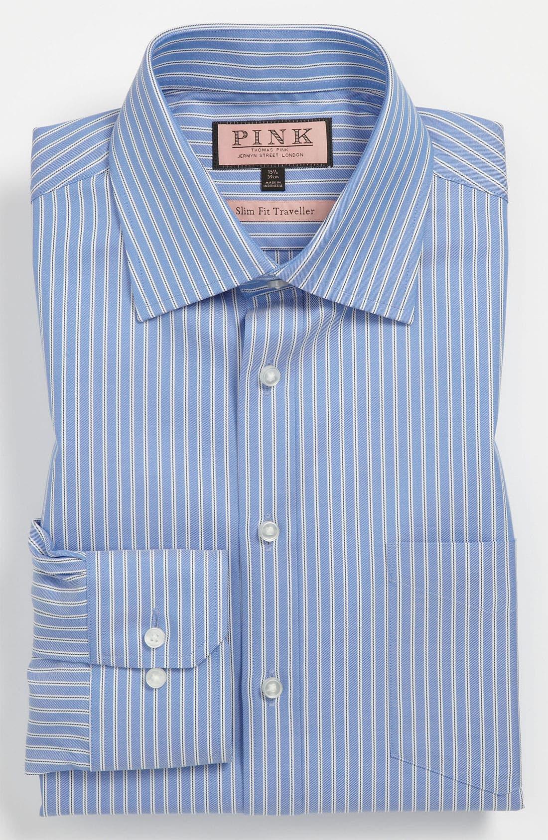 Main Image - Thomas Pink Slim Fit Traveller Dress Shirt