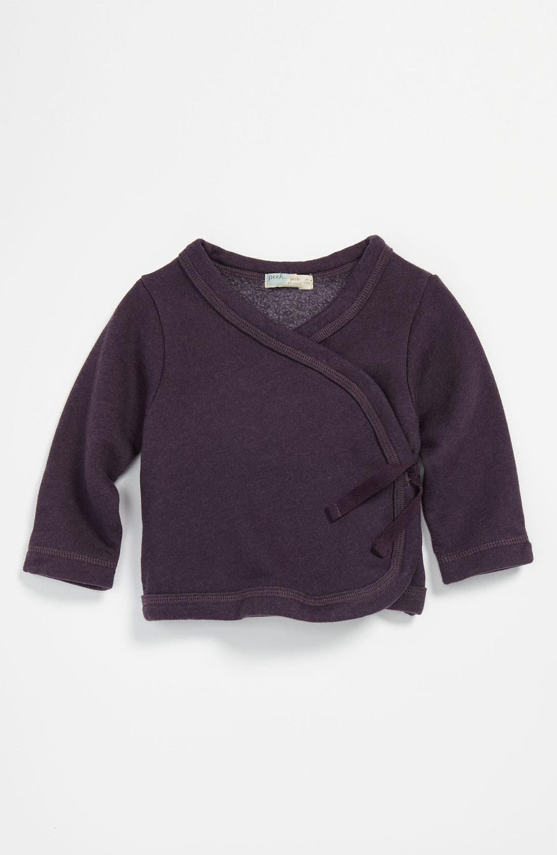 Alternate Image 1 Selected - Peek 'Cozy' Wrap Sweater (Infant)
