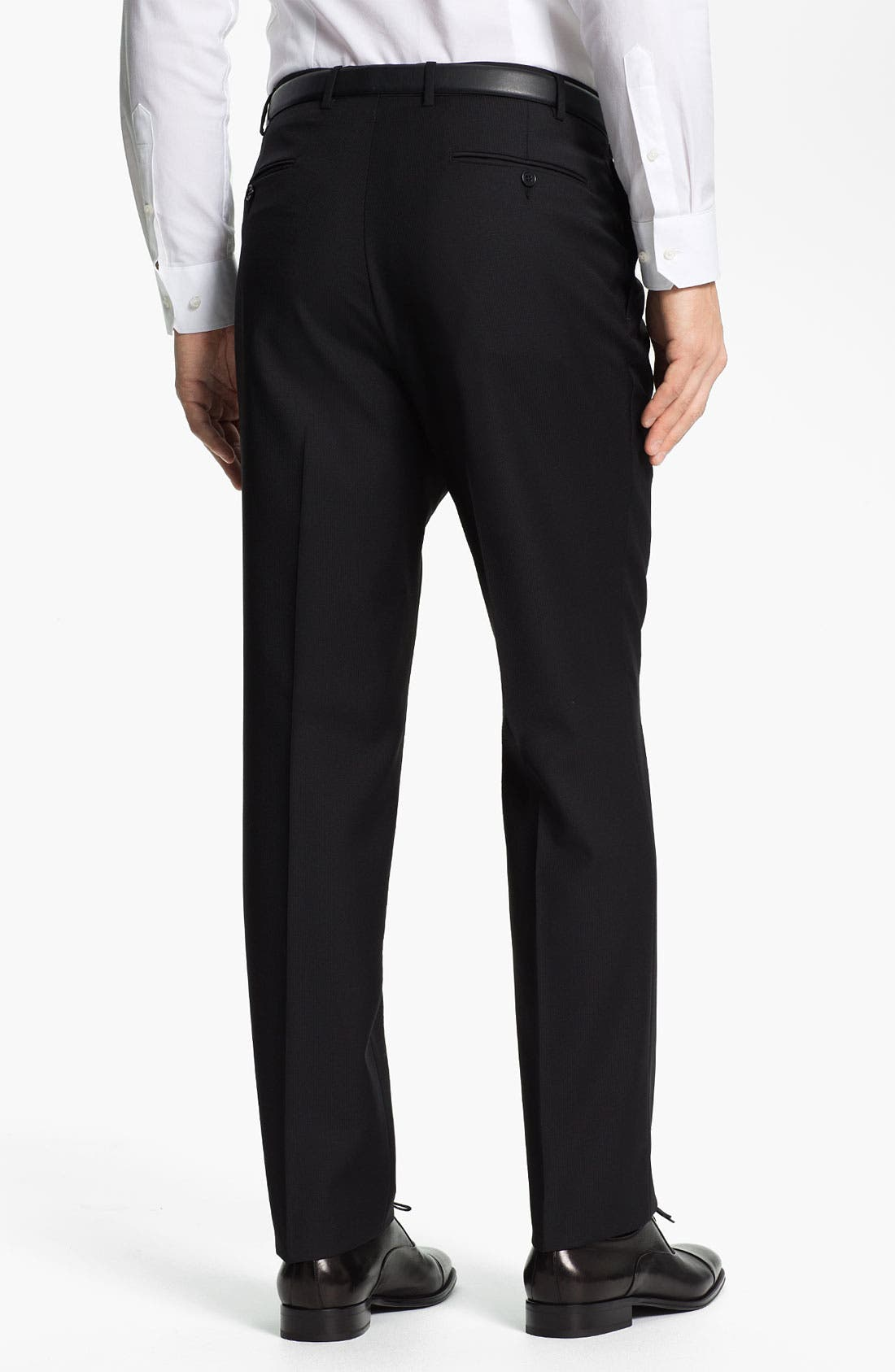 Alternate Image 2  - Canali Flat Front Wool Trousers