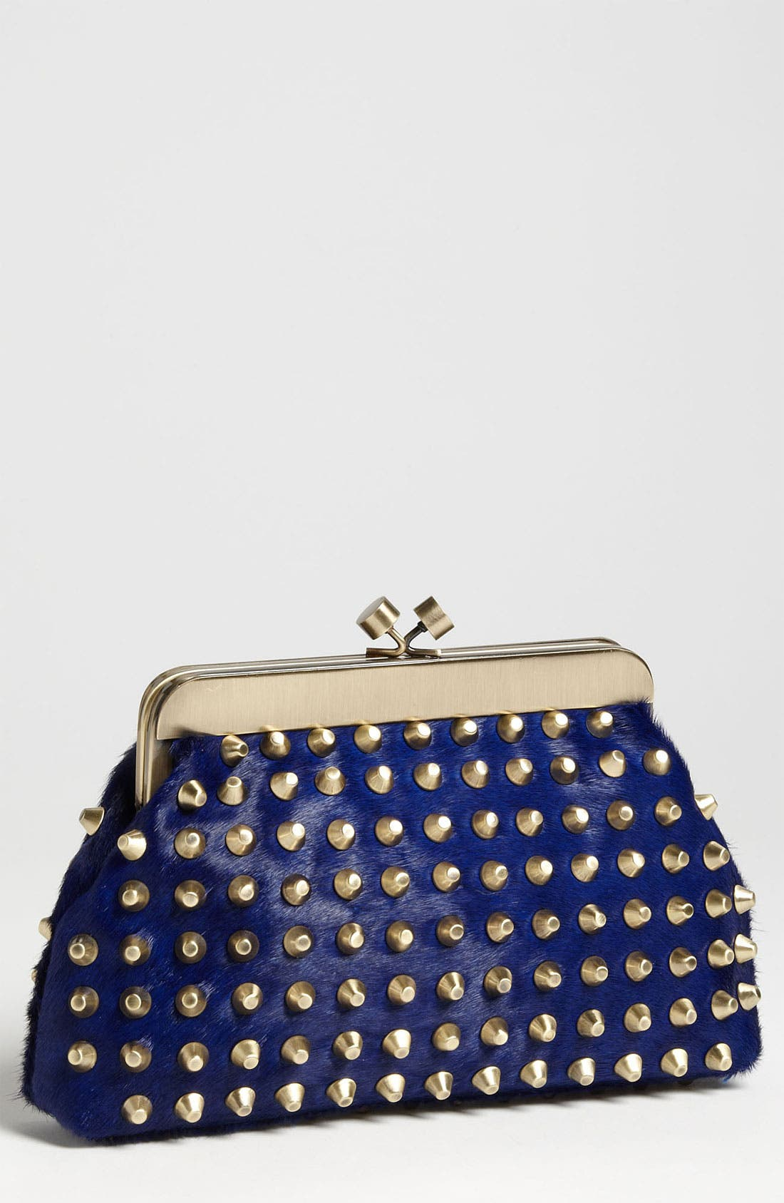 Main Image - House of Harlow 1960 'Tilly' Studded Calf Hair Clutch