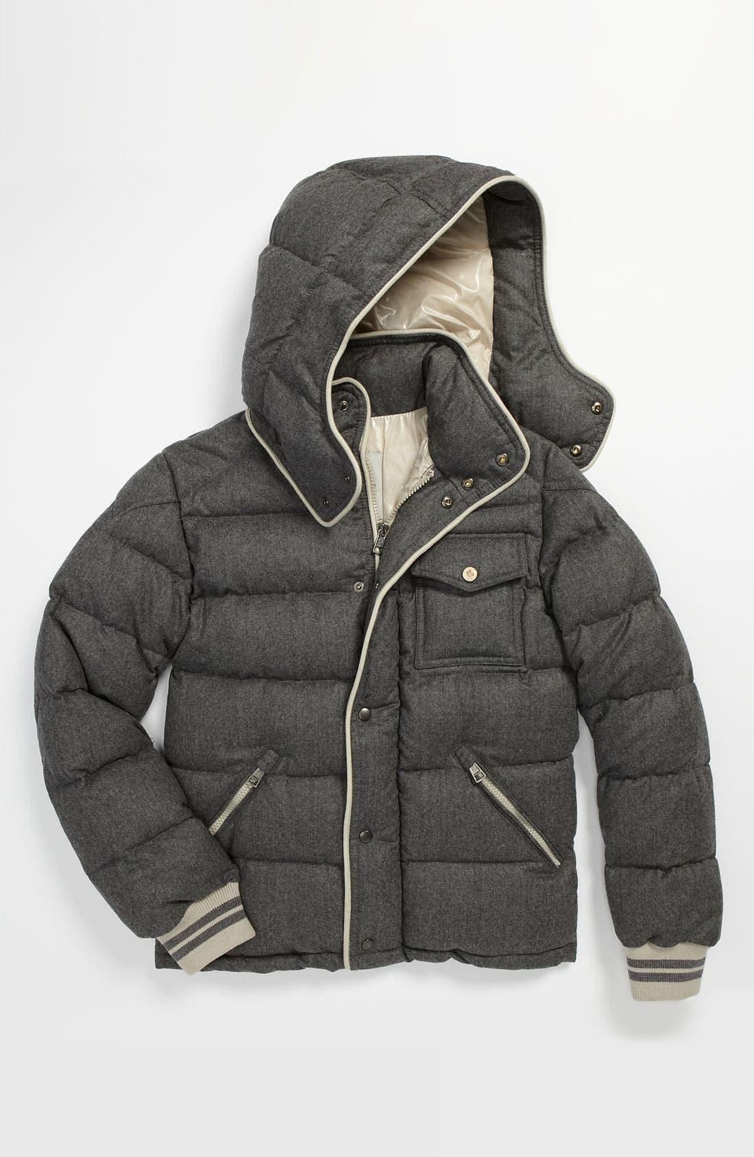 Main Image - Moncler 'Rhin' Wool Puffer Jacket (Big Boys)