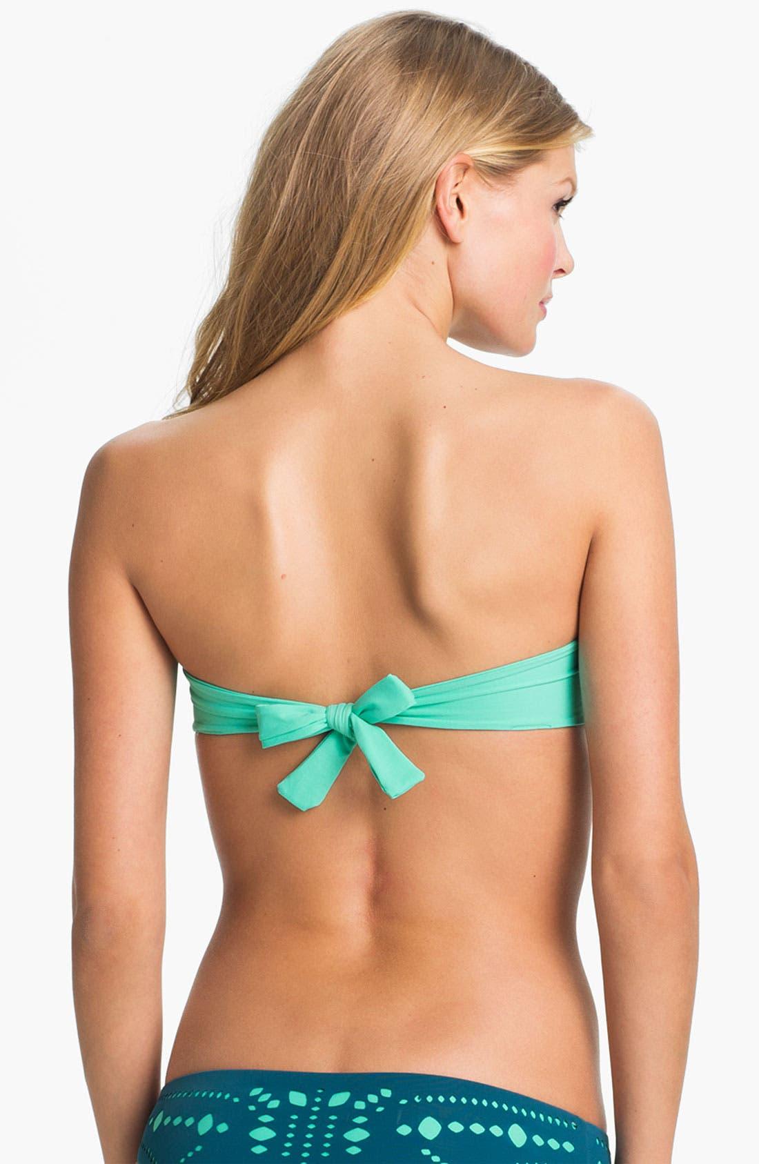 Alternate Image 2  - L Space Laser Cut Ruffle Bikini Top