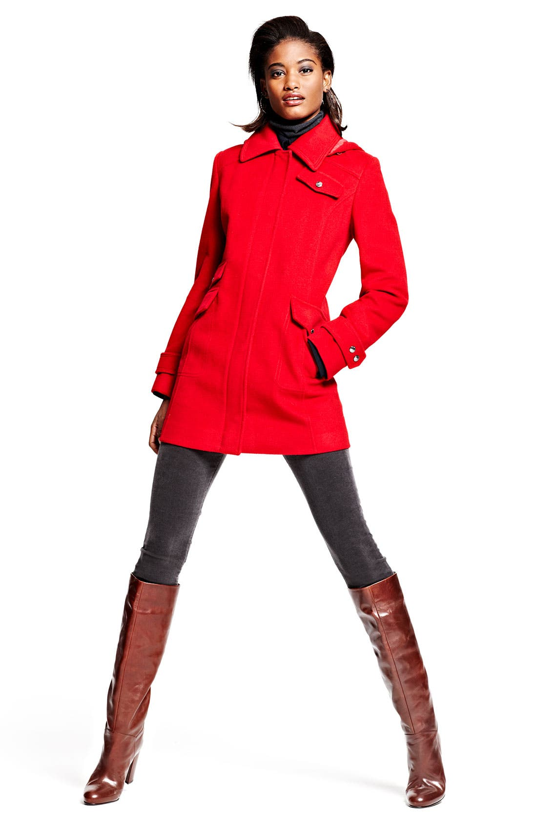 Main Image - Ellen Tracy Coat, KUT from the Kloth Cords & Stuart Weitzman Boot