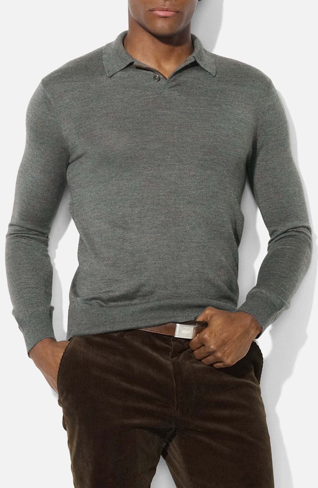 Alternate Image 1 Selected - Polo Ralph Lauren Trim Fit Polo Sweater