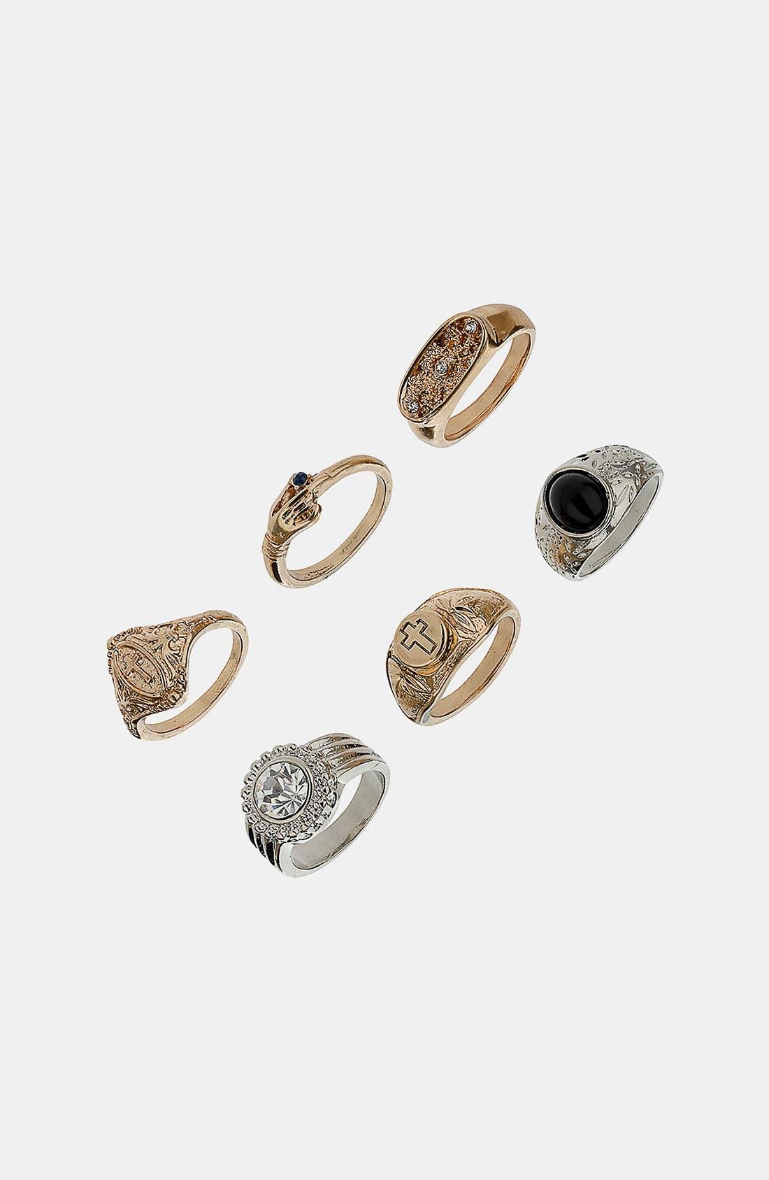 Main Image - Topshop 'Rococo' Rings (Set of 6)