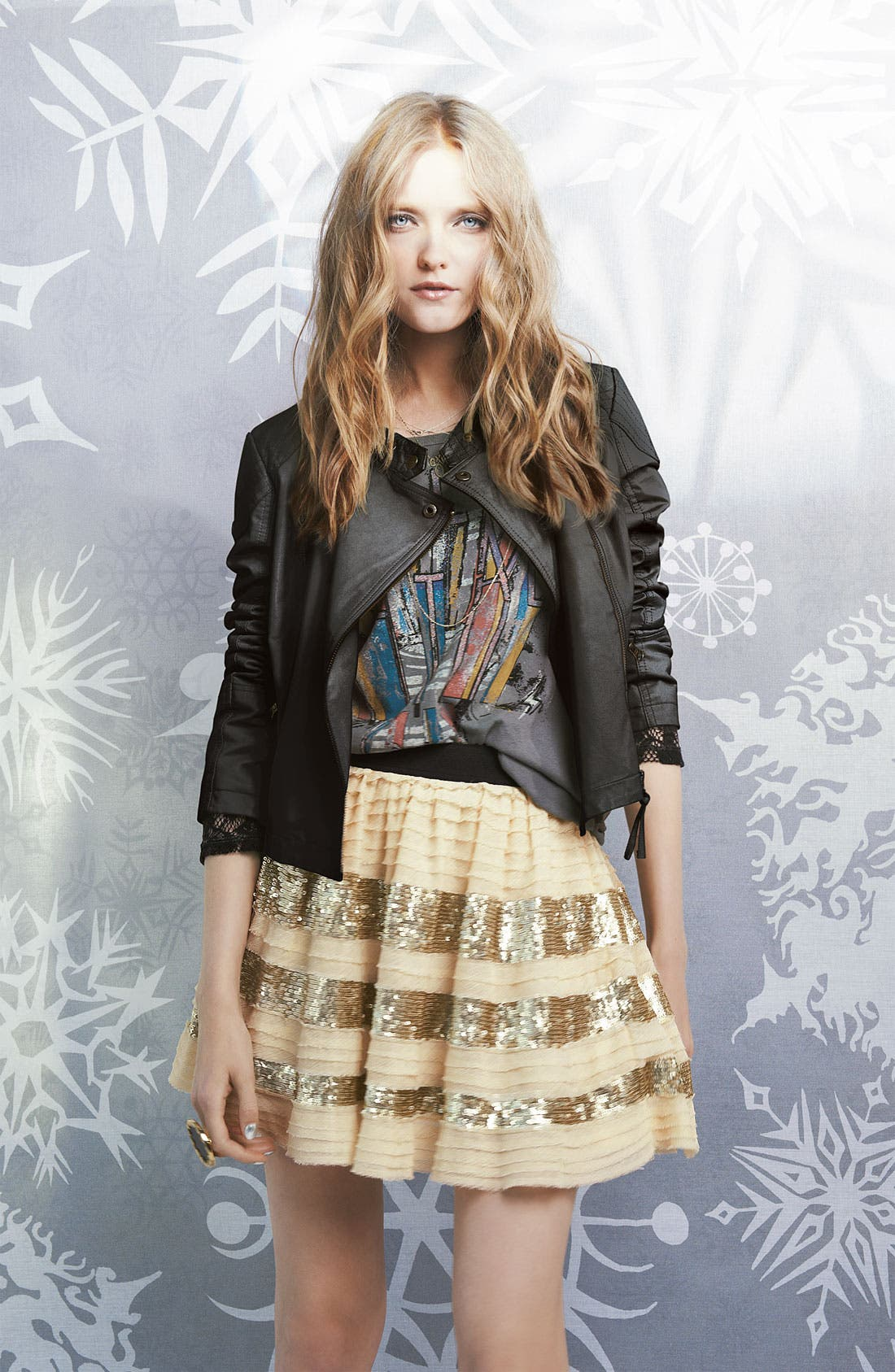 Alternate Image 4  - Free People 'Sunburst' Faux Leather Moto Jacket