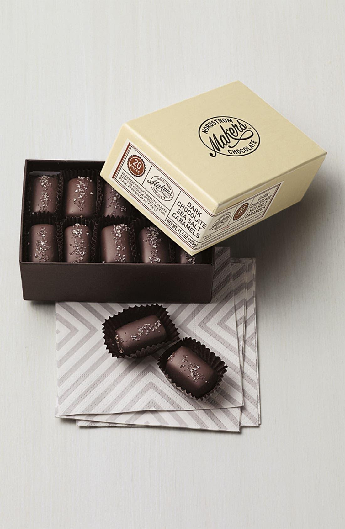 Alternate Image 2  - Nordstrom Makers Chocolate Dark Chocolate Sea Salt Caramels (20 Pieces)