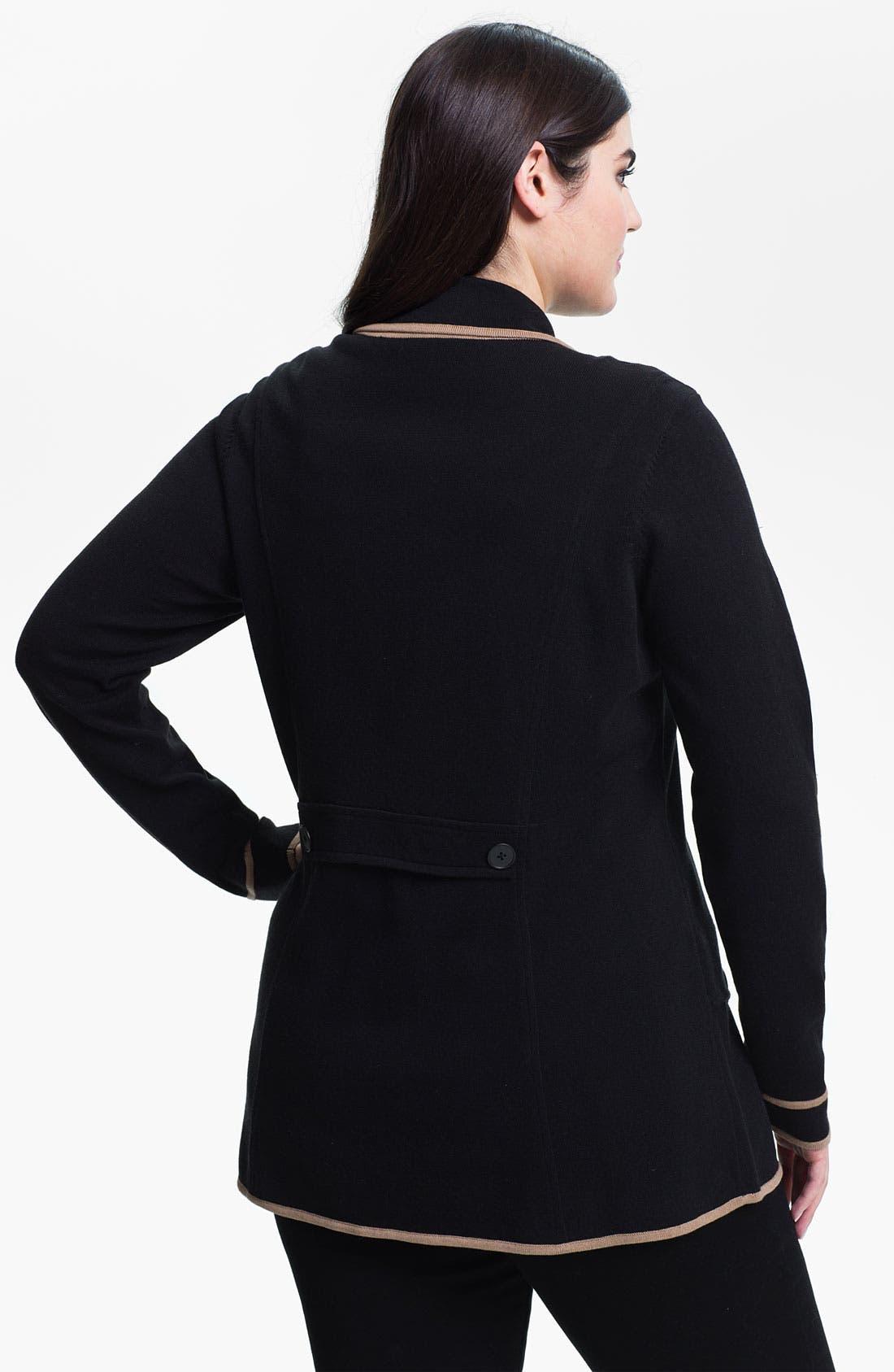 Alternate Image 2  - Nic + Zoe Tipped Knit Jacket (Plus)