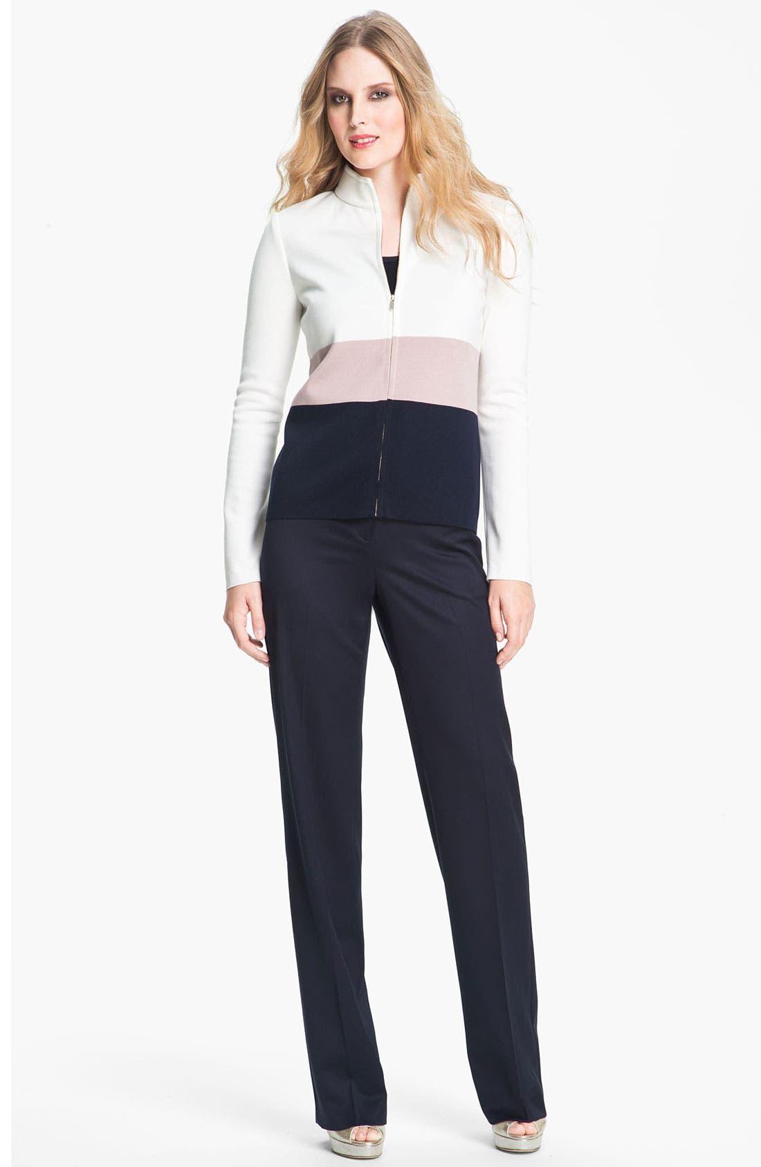 Main Image - St. John Collection Colorblock Milano Knit Scuba Jacket
