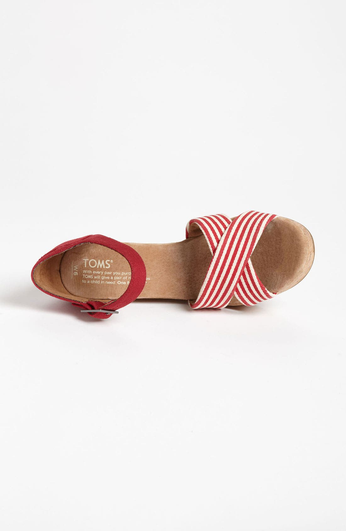Alternate Image 3  - TOMS 'University Stripe' Wedge Sandal