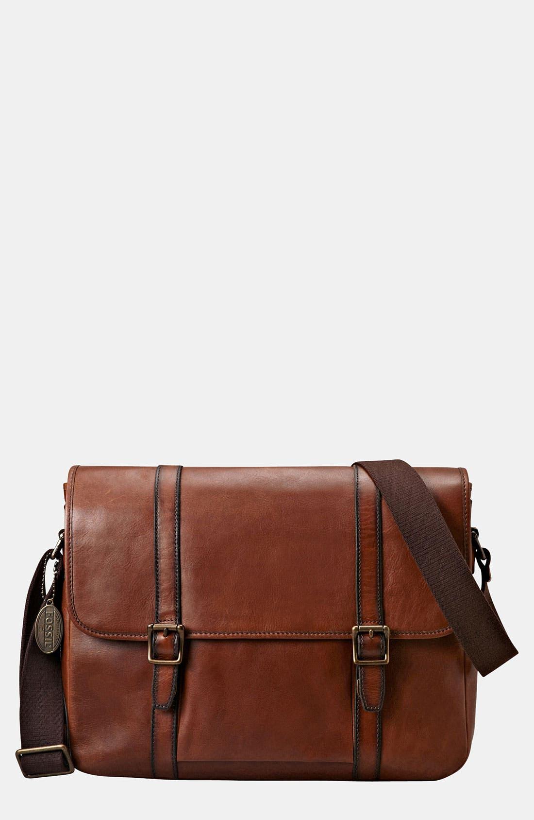 Main Image - Fossil 'Estate' Leather Messenger Bag