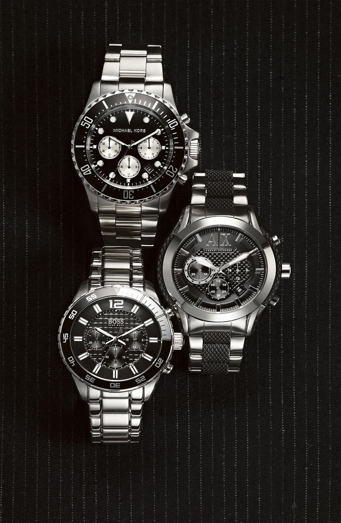 Alternate Image 4  - AX Armani Exchange Chronograph Bracelet Watch, 47mm