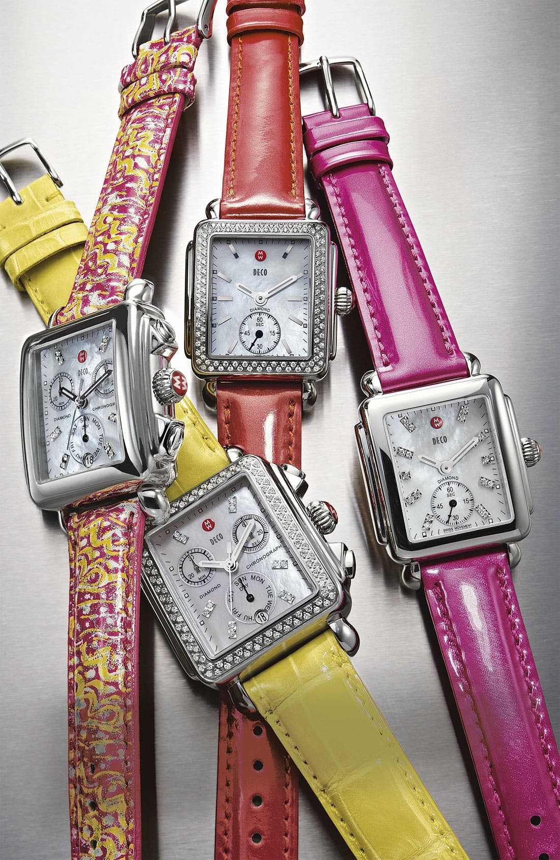 Alternate Image 3  - MICHELE 16mm Patent Leather Watch Strap