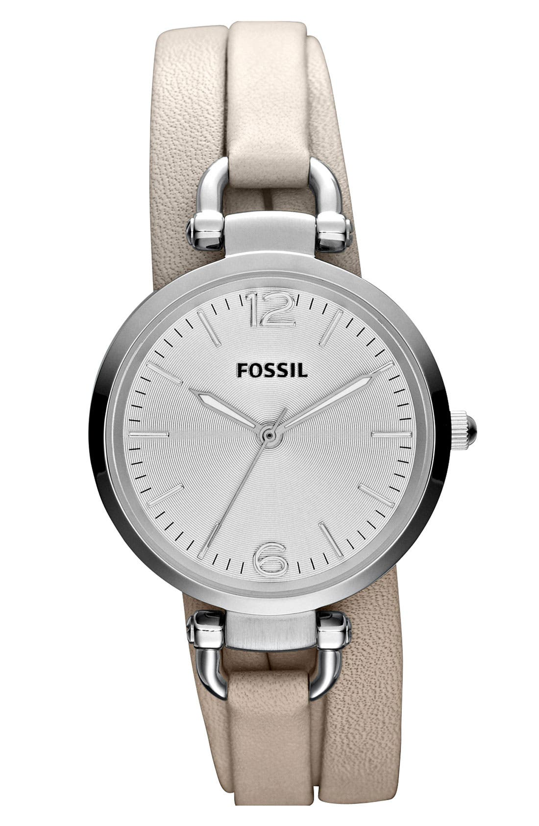 Alternate Image 1 Selected - Fossil 'Georgia' Faux Wrap Watch, 32mm