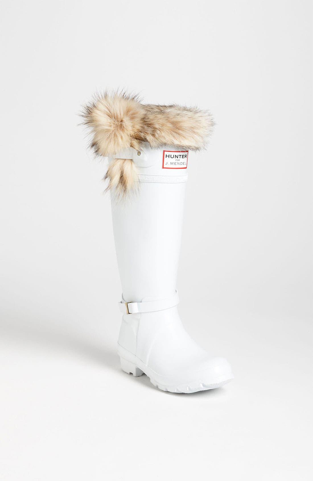 Alternate Image 1 Selected - Hunter for J. Mendel Genuine Fur Trim Boot (Women)