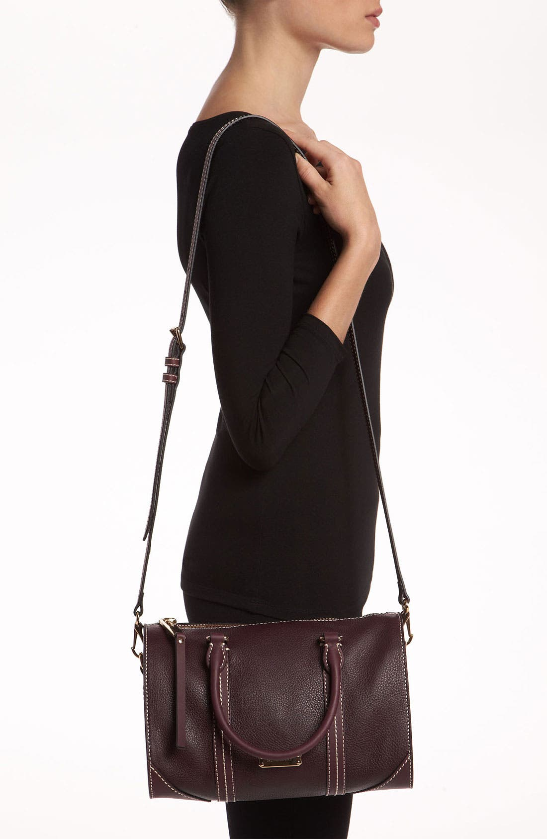 Alternate Image 2  - Burberry 'Alchester -Small' Leather Bowling Bag