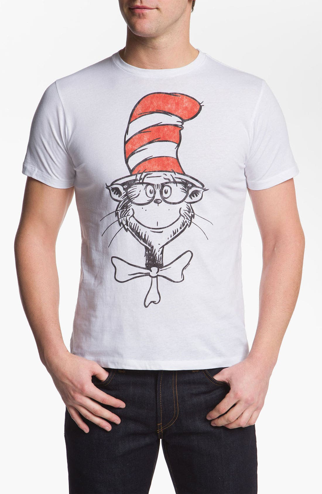 Alternate Image 1 Selected - Topless 'Nerdy Cat' Graphic T-Shirt