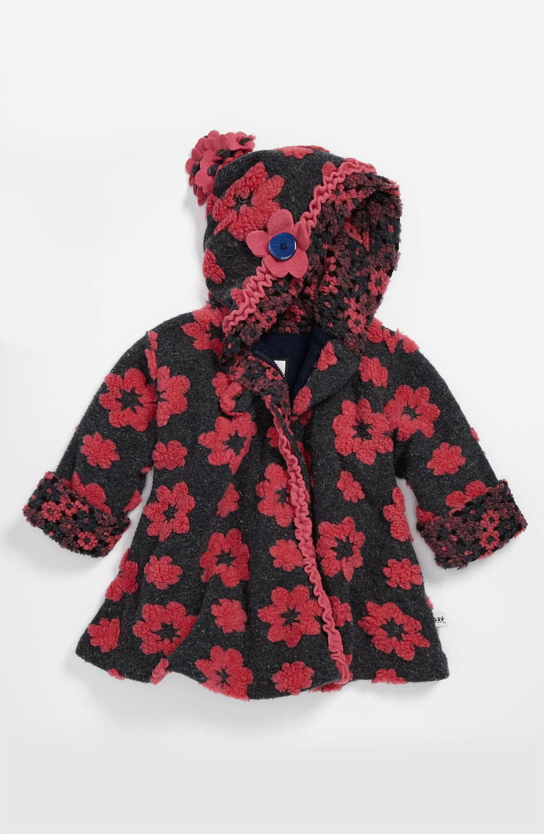 Alternate Image 1 Selected - Corky & Company 'Classic Wrap' Hooded Swing Coat (Little Girls)