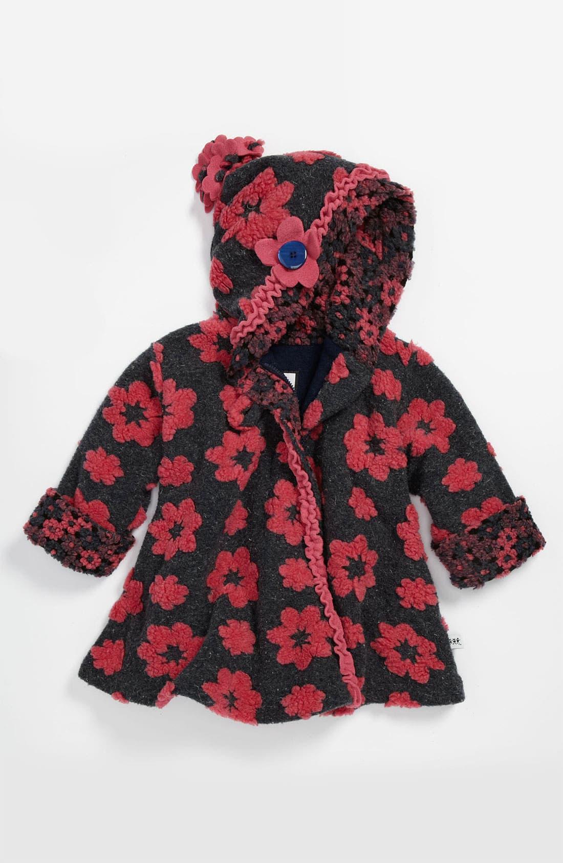 Main Image - Corky & Company 'Classic Wrap' Hooded Swing Coat (Little Girls)