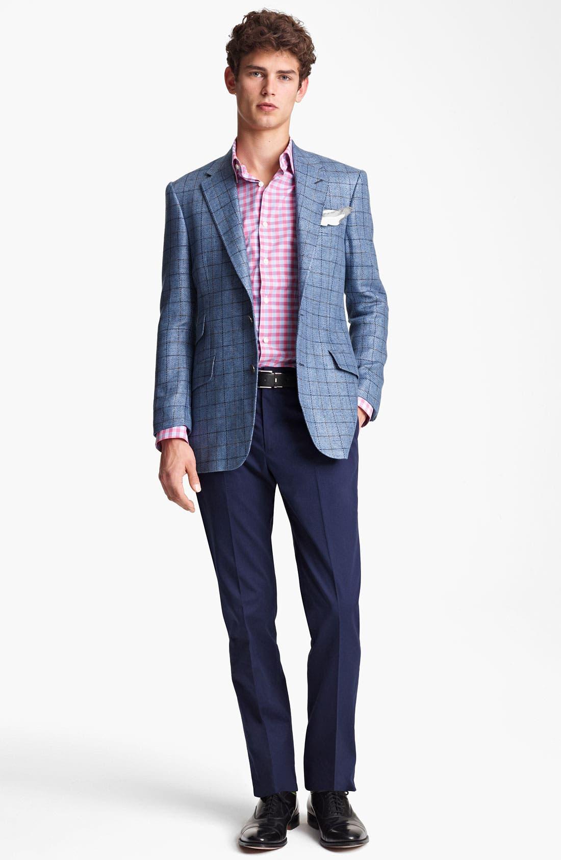 Alternate Image 4  - Paul Smith London Linen Cotton Plaid Sportcoat