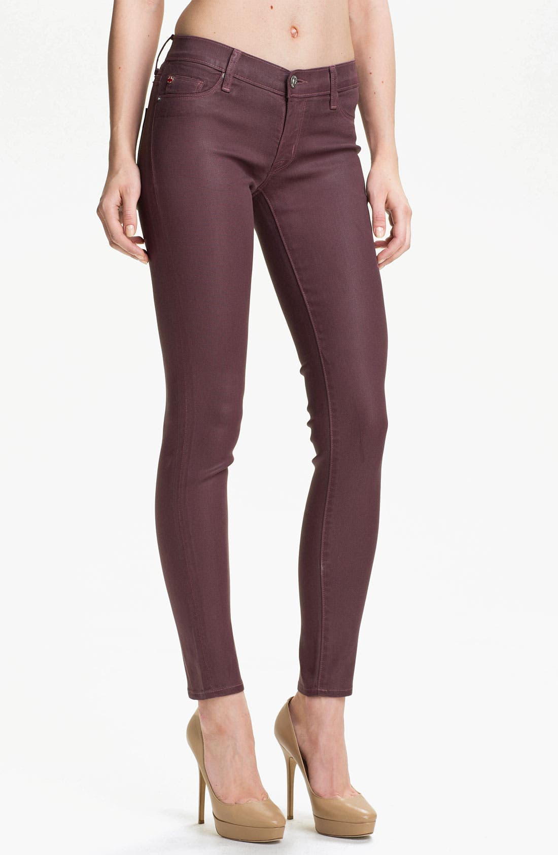 Main Image - Hudson Jeans 'Krista' Super Skinny Jeans (Steady As She Goes Wax)