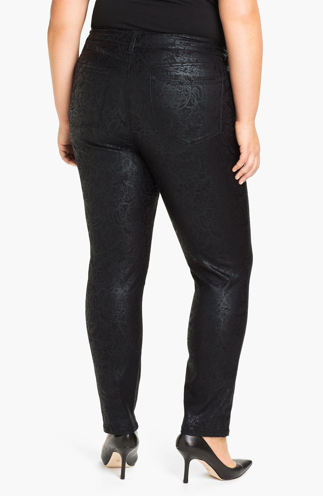 Alternate Image 2  - NYDJ 'Sheri - Gilded Lily' Stretch Denim Jeans (Plus)
