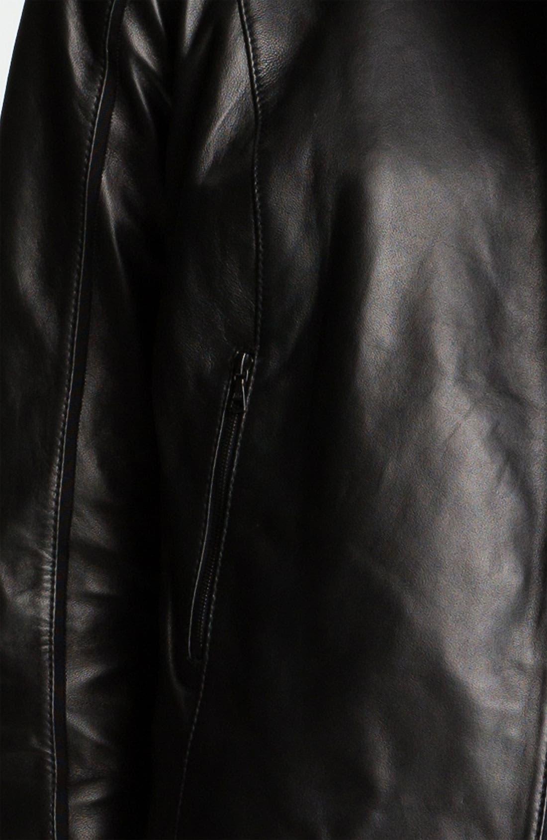 Alternate Image 5  - Miss Wu Leather Biker Jacket (Nordstrom Exclusive)
