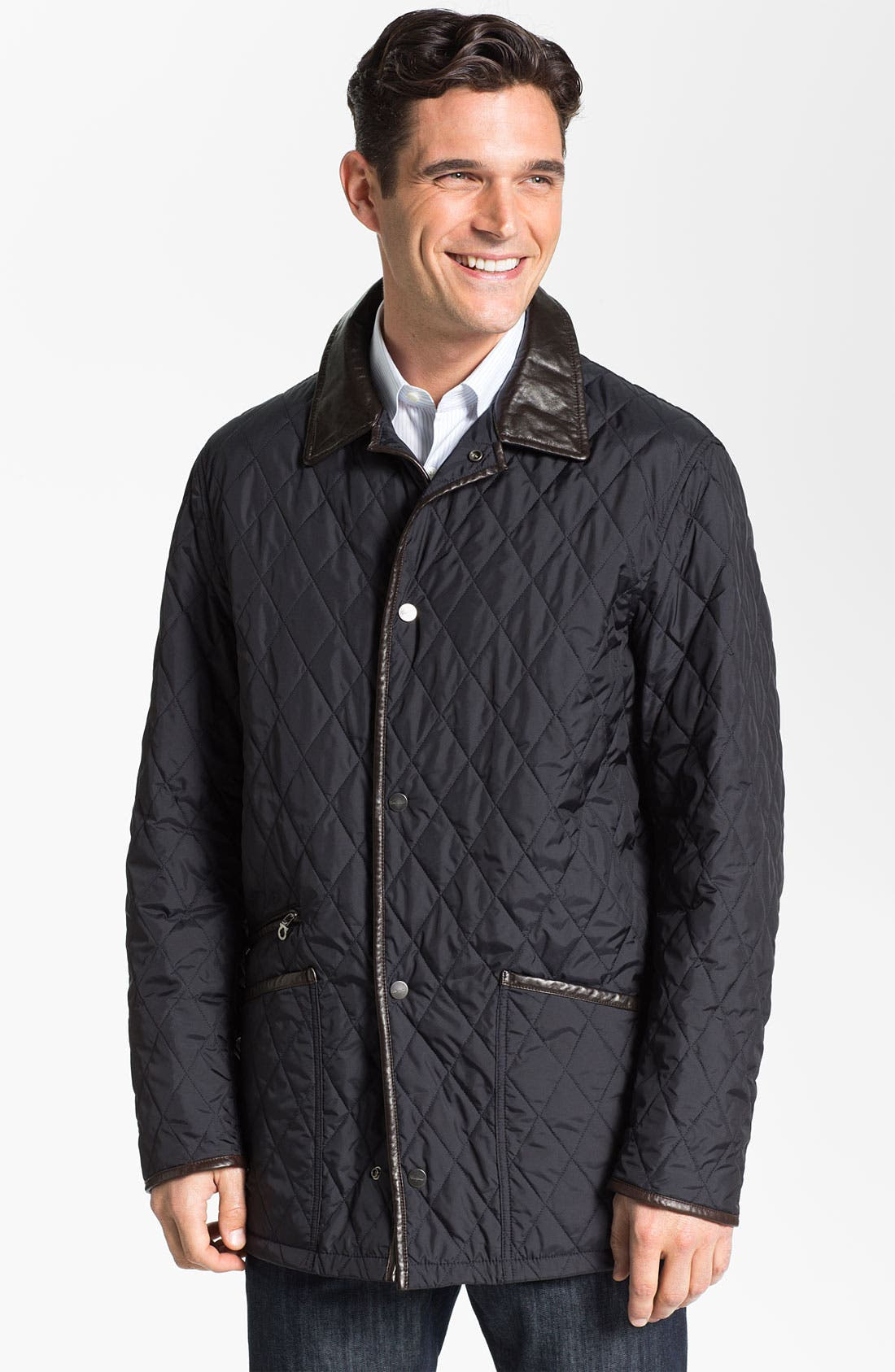 Main Image - Salvatore Ferragamo Quilted Barn Coat