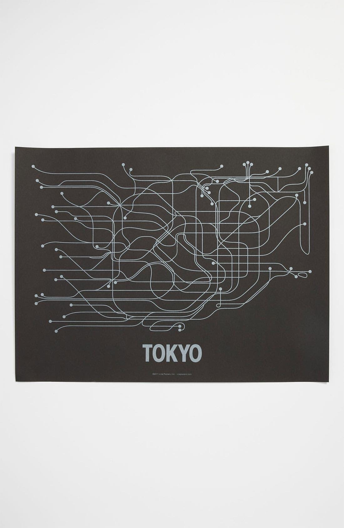 Alternate Image 1 Selected - Line Poster 'Tokyo Transit System' Print