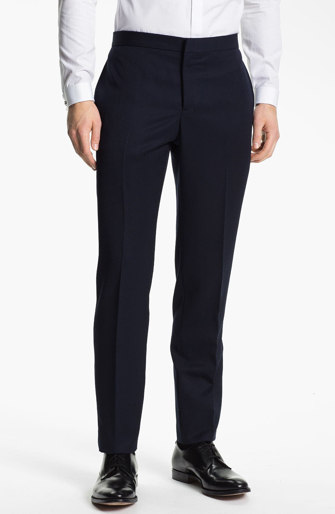 Alternate Image 1 Selected - Burberry Prorsum Wool Tuxedo Pants